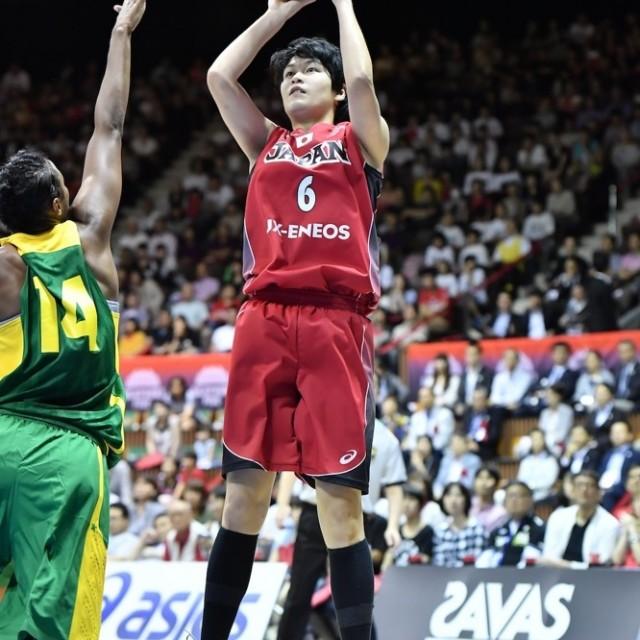 確率良くジャンプシュートを決める#6間宮 佑圭選手